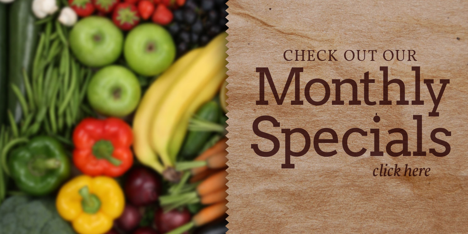 Nature's Green Grocer monthly specials